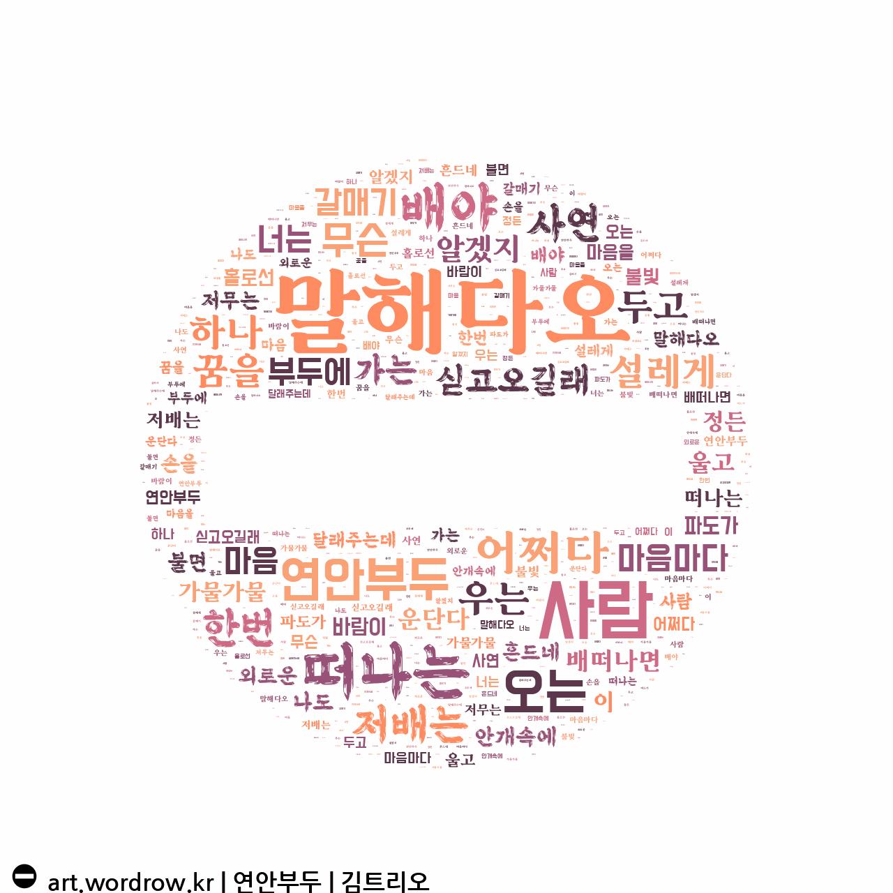 워드 아트: 연안부두 [김트리오]-27